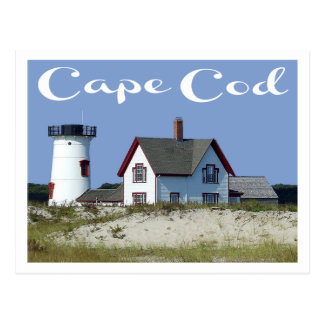 Cape Cod, Stage Harbor Light, Chatham MA Post Card