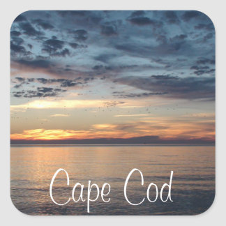 Cape Cod Sunset beach and ocean Photo Sticker