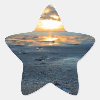 Cape Cod Sunset.jpg Pegatina En Forma De Estrella