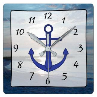 Cape Cod Sunset Ocean View Beach Anchor Clock