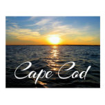 Cape Cod Sunset, Provincetown MA Post Card