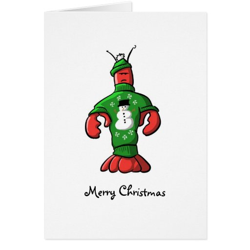 Cape Cod Tacky Christmas Sweater Card