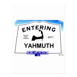 Cape Cod town, Yahmuth (Yarmouth to 'outsiders') Postcard