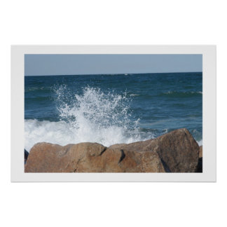 Cape Cod Waves Poster