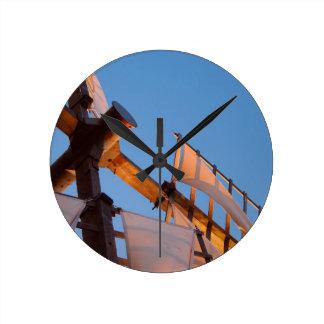 Cape Cod Windmill at Sunset Round Clocks