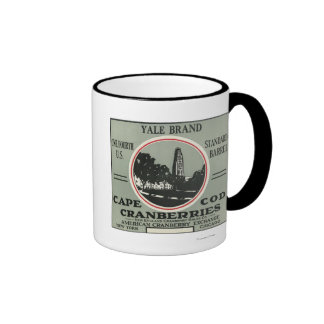 Cape Cod Yale Brand Cranberry Label Ringer Coffee Mug