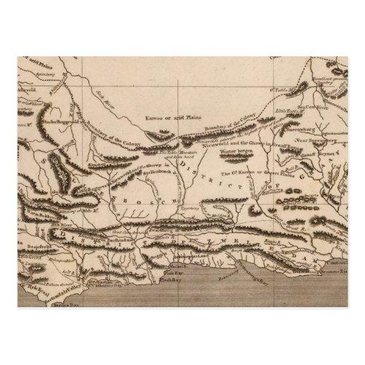 Cape Colony Map by Arrowsmith Postcard
