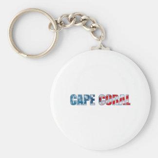 Cape Coral Basic Round Button Keychain