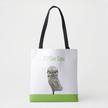 Beach Themed Cape Coral Burrowing Owl Tote Bag