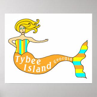 Cape Coral, FL Mermaid Poster
