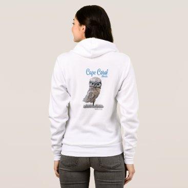 Beach Themed Cape Coral Florida Burrowing Owl Coastal Art Hoodie