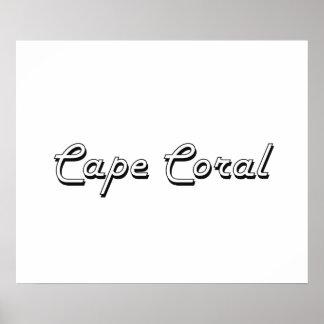 Cape Coral Florida Classic Retro Design Poster