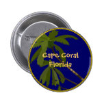 Cape Coral Florida palm tree button/lapel pin