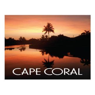 Cape Coral Florida Sunset Postcard
