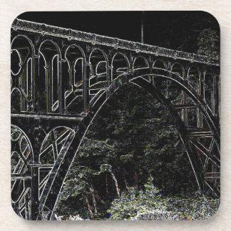 Cape Creek Bridge, Oregon Art Beverage Coaster