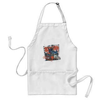 Cape Crusader Collage Adult Apron