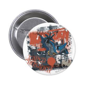 Cape Crusader Collage Button