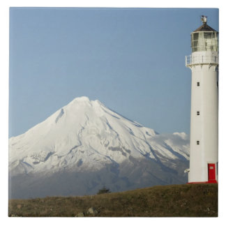 Cape Egmont Lighthouse and Mt Taranaki / Mt Ceramic Tile