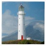 Cape Egmont Lighthouse and Mt Taranaki/Mt Large Square Tile