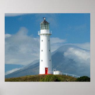 Cape Egmont Lighthouse and Mt Taranaki/Mt Poster