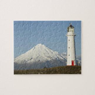 Cape Egmont Lighthouse and Mt Taranaki Mt Jigsaw Puzzles