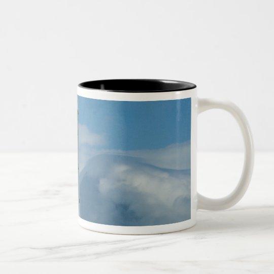 Cape Egmont Lighthouse and Mt Taranaki/Mt Two-Tone Coffee Mug
