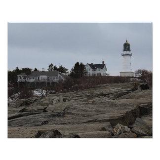 Cape Elizabeth Lighthouse Art Photo