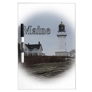 Cape Elizabeth Lighthouse Dry Erase Board