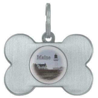 Cape Elizabeth Lighthouse Pet ID Tag