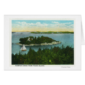 Cape Elizabeth View of Two Lighthouses Card