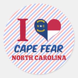 Cape Fear, North Carolina Classic Round Sticker
