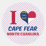 Cape Fear, North Carolina Round Stickers