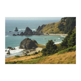 Cape Ferrelo, Vista, Ocean, Sea Stacks, Cove Canvas Print