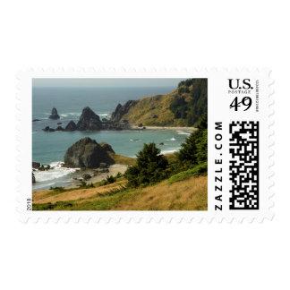 Cape Ferrelo, Vista, Ocean, Sea Stacks, Cove Stamps