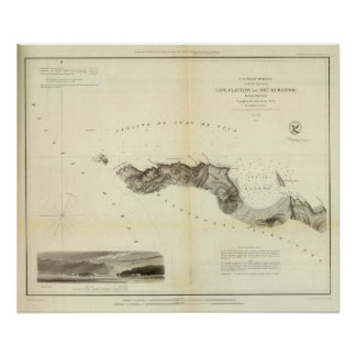 Cape Flattery, Neeah Harbor, Wash Poster