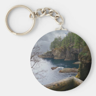 Cape Flattery Olympic National Park Basic Round Button Keychain