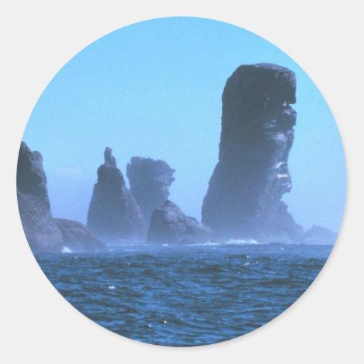 Cape Flattery Round Stickers