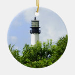 Cape Florida Light Double-Sided Ceramic Round Christmas Ornament
