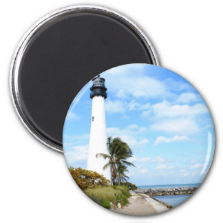 Cape Florida Lighthouse 2 Inch Round Magnet