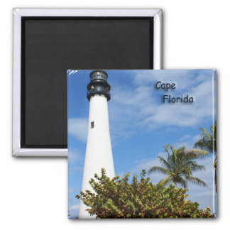 Cape Florida Lighthouse 2 Inch Square Magnet