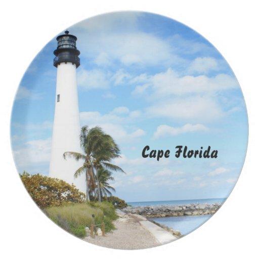 Cape Florida Lighthouse Dinner Plate
