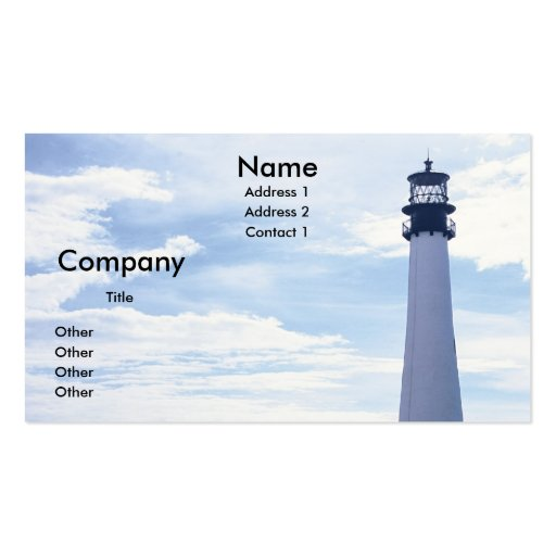 Cape Florida Lighthouse Double-Sided Standard Business Cards (Pack Of 100)