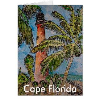 Cape Florida Lighthouse Florida nautical art gifts Cards