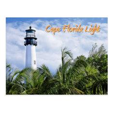 Cape Florida Lighthouse, Key Biscayne Postcard at Zazzle