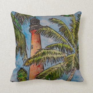 Cape Florida Lighthouse pillow lighthouses