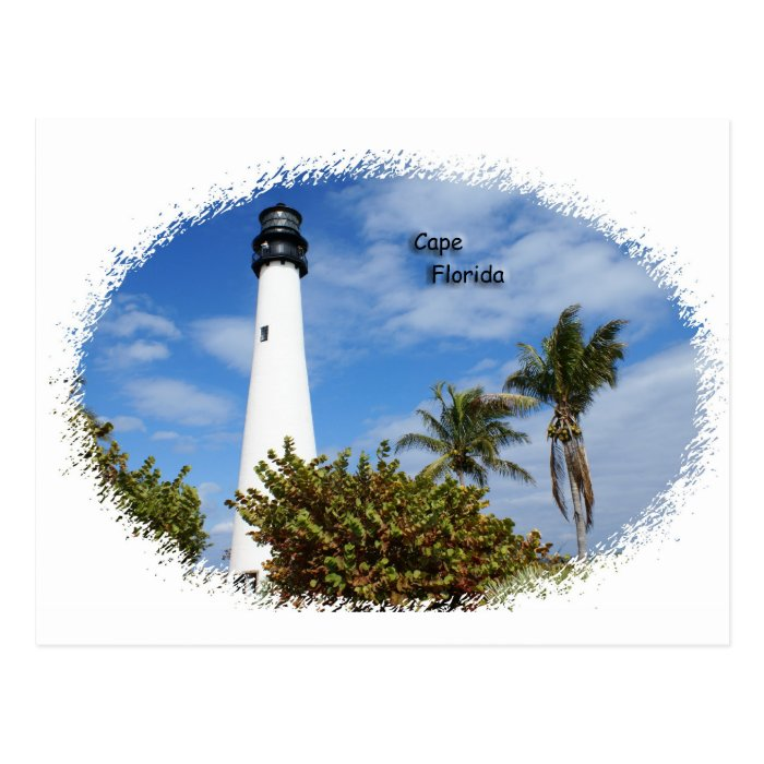 Cape Florida Lighthouse Postcard