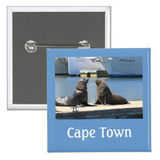 Cape Fur Seals Waterfront South Africa Pinback Buttons