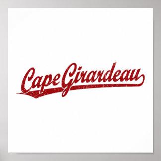 Cape Girardeau script logo in red Poster