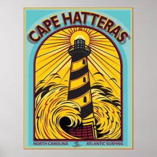 CAPE HATTERAS ATLANTIC SURFING NORTH CAROLINA POSTER