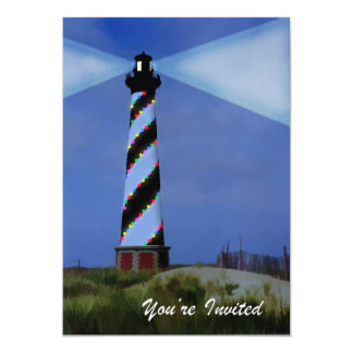 Cape Hatteras Holiday Lights 5x7 Paper Invitation Card